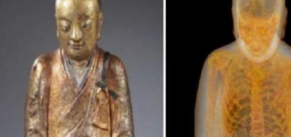Statuia expusa in muzeu s-a dovedit a fi mumie