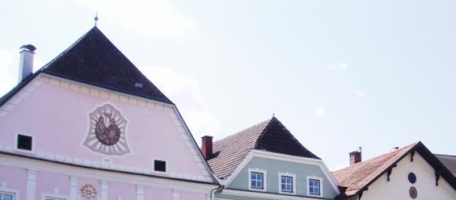Ansicht von Wilhelmsburg, einer typischen Stadt in Niederösterreich.