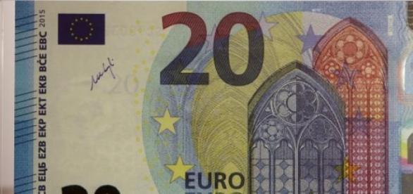 A nova nota tem a assinatura de Mario Draghi.