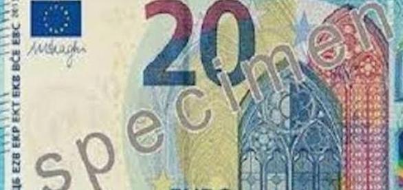Spécimen du nouveau billet de 20 euros.