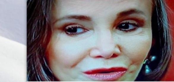 Florinda Meza no programa do Ratinho
