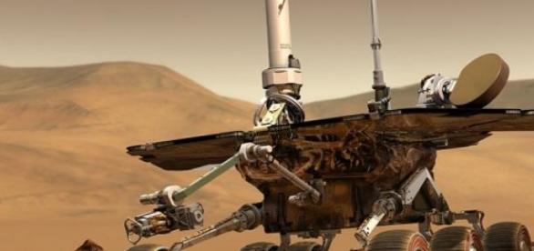 Recreación artística de un explorador de la NASA