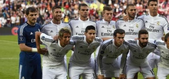 Equipo titular del Real Madrid.