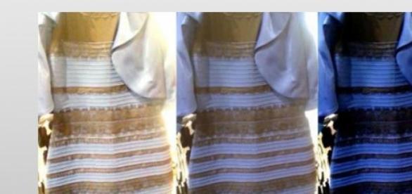 El polémico vestido que cambia de color