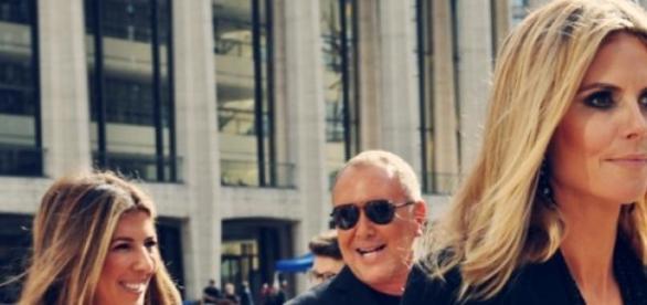 Heidi Klum mit Michael Kors und Nina Garcia.