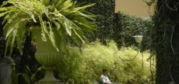 Vista do Jardim da Casa de Rui Barbosa