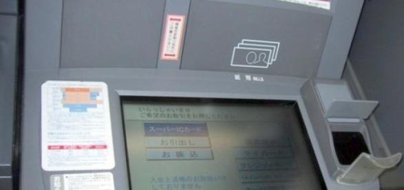 Cajero automático con pantalla resistiva