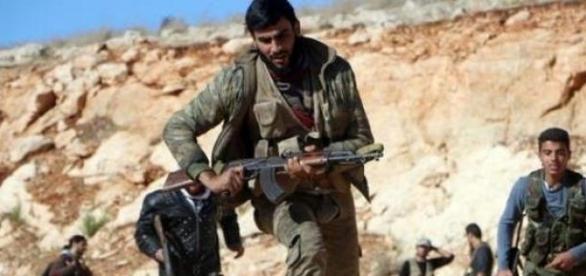 Des combattants en Syrie