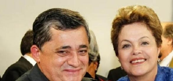 Dilma e o Deputado petista José  Guimarães