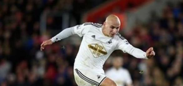 Jonjo Shelvey, 22, scored Swansea City's winner