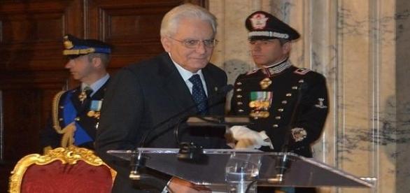 Sergio Mattarella no Palácio do Quirinal