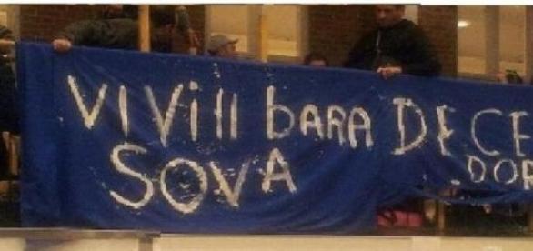 protest al romilor aflati in Suedia