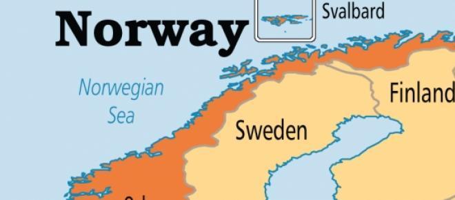 Mapa: Noruega   Capital: Oslo