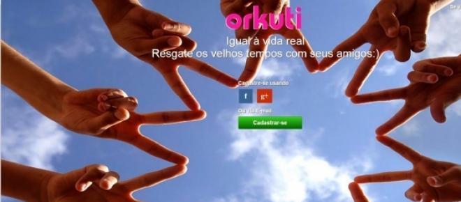 Página de inicio da nova rede social