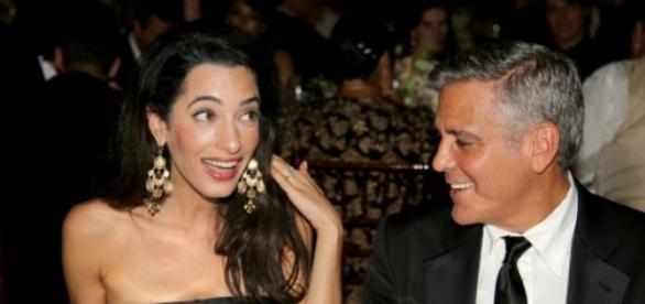 Sr. e Sra. Clooney: casal inseparável