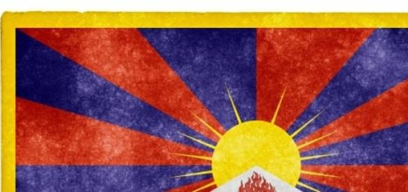 The Tibet flag, symbol of hope and freedom