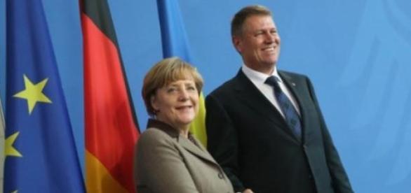 Angela Merkel si Klaus Johannis