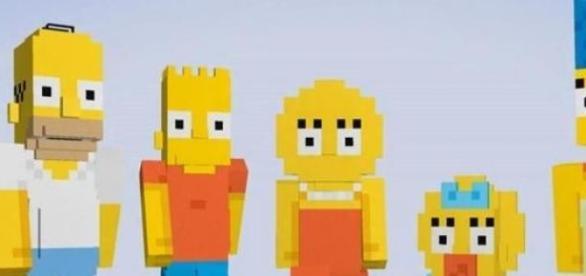 Aspecto de los Simpson en Minecraft