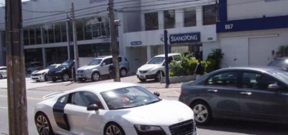 AUDI R8 de Di María apreendido pela PSP do Porto.