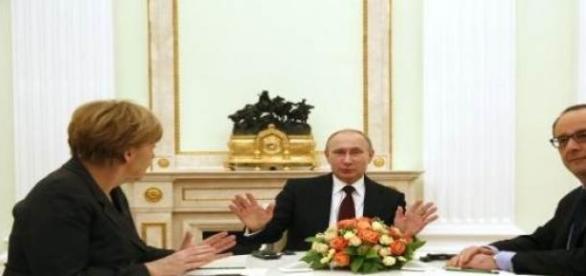 Negocjacje w sprawie konfliktu na Ukrainie.