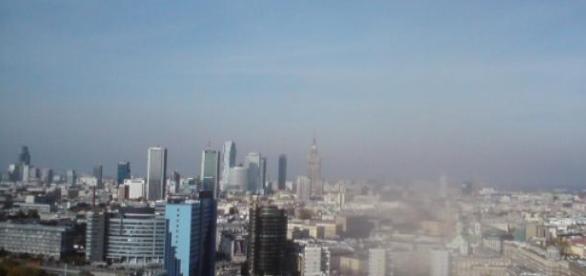 Panorama Warszawy widok z dachu pl Unii Lubelskiej