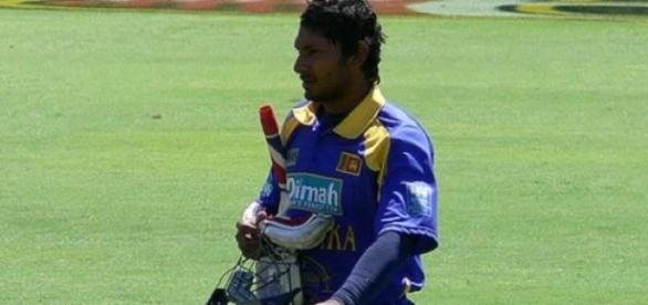 Sangakkara scored a 70-ball century in the match