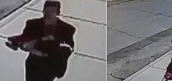Imágenes captadas por una videocámara de seguridad