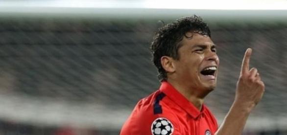 Thiago Silva celebrates scoring a vital equaliser