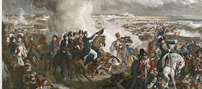 Napoleão Bonaparte montado em seu cavalo branco.