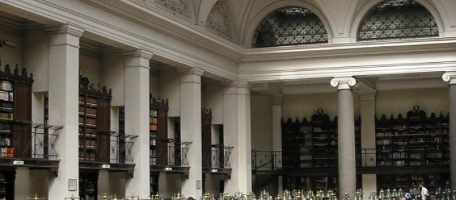 Großer Lesesaal der Universitätsbibliothek Wien.