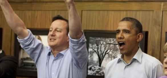 David.Cameron, Barack.Obama si Angela Merkel