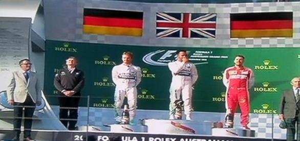 El podio del Gran Premio de Australia
