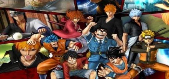 Algunos de los personajes de J-Stars Victory VS+