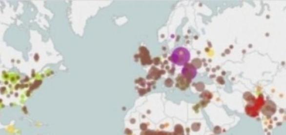 Harta realizata de Consiliul de Relatii Externe