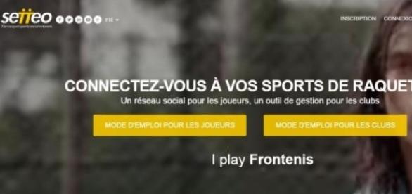 Capture d'écran de la page d'accueil de Setteo