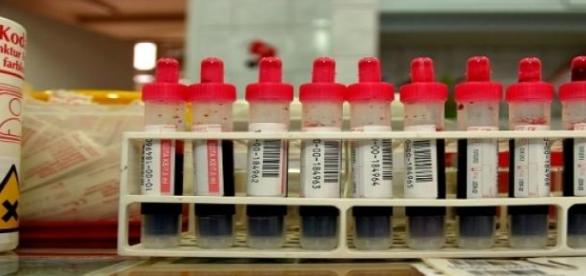 Donación de sangre en un hospital