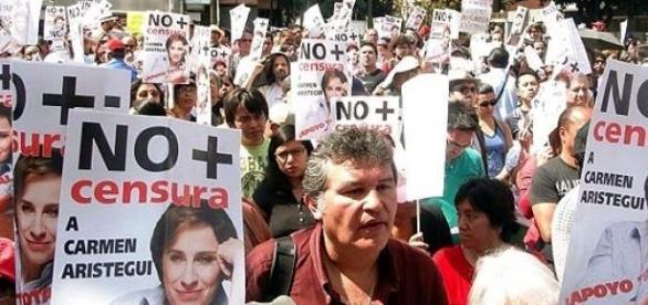 La sociedad mexicana apoyando a Carmen Aristegui