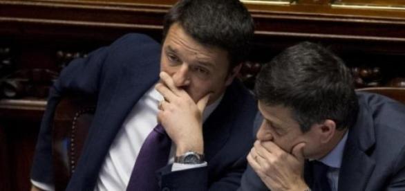 Matteo Renzi e Maurizio Lupi