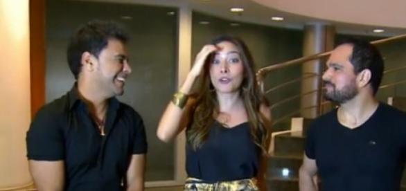 Zezé Di Camargo e Luciano mostram afinidade na TV
