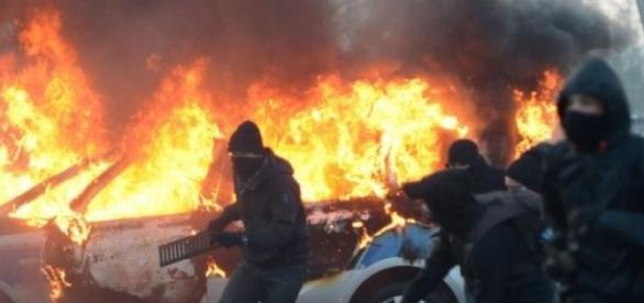 Manifestatii violente anti-BCE la Frankfurt