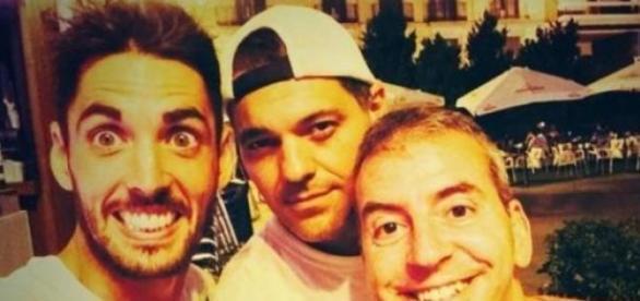 Santi Trancho con Frank Cuesta y Nacho Medina