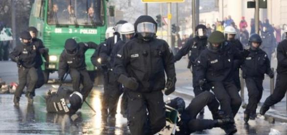 Proteste de strada in Frankfurt