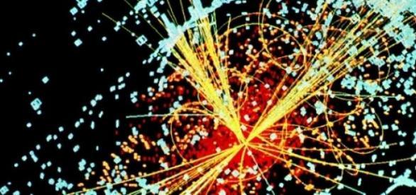 Colisión de neutrones en el LHC
