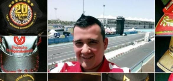 Colectionar de sepci purtate de Michael Schumacher