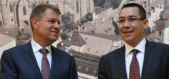 Klaus Johannis si Victor Ponta