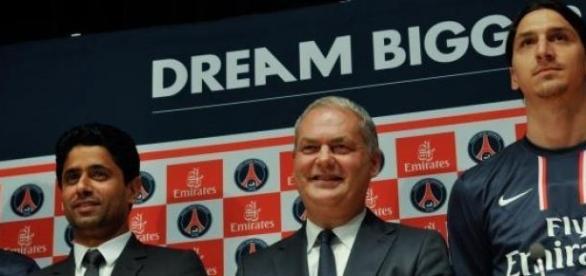 Président du PSG, vice-président Emirates, Zlatan