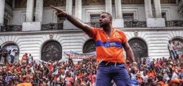 Manifestação dos garis no Centro do Rio de Janeiro
