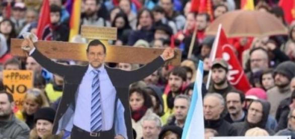 Mariano Rajoy, foi  alvos das críticas