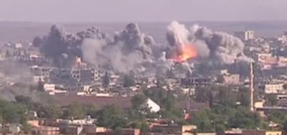 Ataque da coligação liderada pelos EUA na Síria