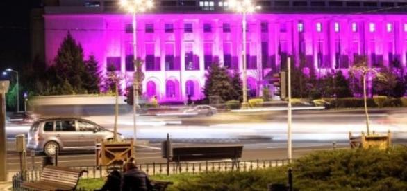 Palatul Victoria va fi colorat în mov